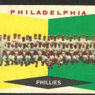 PHILADELPHIA PHILLIES TEAM CARD 1960 TOPPS # 302 UNMARKED