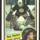 BOSTON BRUINS PETE PEETERS 1984 OPC O PEE CHEE # 15