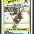 BOSTON BRUINS TEAM LEADERS RICK MIDDLETON 1984 OPC O PEE CHEE # 352