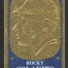 KANSAS CITY ATHLETICS ROCKY COLAVITO 1965 TOPPS EMBOSSED INSERT # 46 good