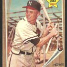 MILWAUKEE BRAVES HOWIE BEDELL 1962 TOPPS # 76 VG/EX