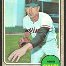 SAN FRANCISCO GIANTS BILL HENRY 1968 TOPPS # 239