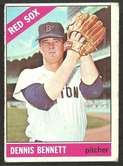 BOSTON RED SOX DENNIS BENNETT 1966 TOPPS # 491 G/VG