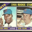 NEW YORK METS CLEON JONES DICK SELMA ROOKIE CARD 1966 TOPPS # 67 G