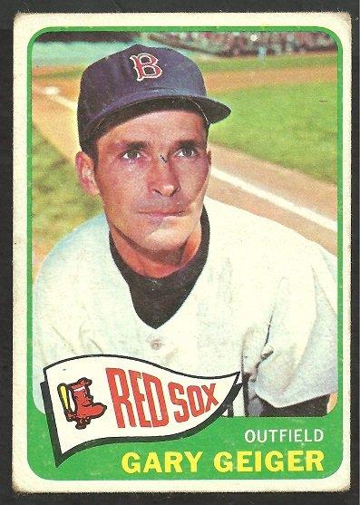 BOSTON RED SOX GARY GEIGER 1965 TOPPS # 452 G