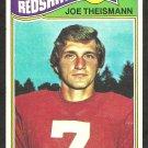 WASHINGTON REDSKINS JOE THEISMANN 1977 TOPPS  # 74 VG/EX