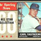 BOSTON RED SOX CARL YASTRZEMSKI YAZ SPORTING NEWS ALL STAR SELECTION 1968 TOPPS # 369 VG+
