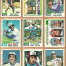 1982 Topps Montreal Expos Team Lot 27 Andre Dawson Gary Carter Tim Wallach RC Francona RC