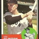 BOSTON RED SOX LOU CLINTON 1963 TOPPS # 96 NR MT
