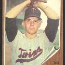MINNESOTA TWINS BILL PLEIS 1962 TOPPS # 124 G/VG