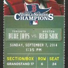 Toronto Blue Jays Boston Red Sox 2014 Ticket Bautista HR Mookie Betts Adam Lind