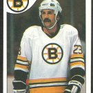 BOSTON BRUINS CHARLIE SIMMER 1985 TOPPS # 87 NR MT
