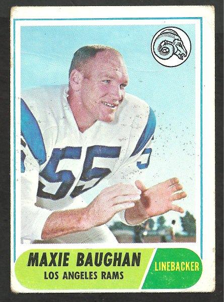 LOS ANGELES RAMS MAXIE BAUGHN 1968 TOPPS # 210 G/VG