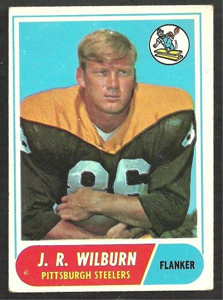 PITTSBURGH STEELERS J.R. WILBURN 1968 TOPPS # 59 VG/EX