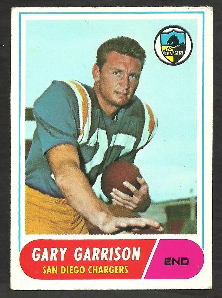 SAN DIEGO CHARGERS GARY GARRISON 1968 TOPPS # 36 VG/EX