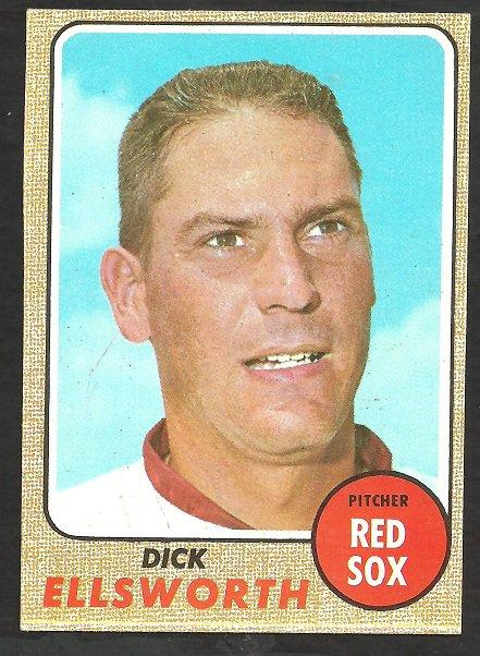 BOSTON RED SOX DICK ELLSWORTH 1968 TOPPS # 406 EX