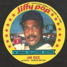 1986 MSA Jiffy Pop Disc Baseball Card # 1 Boston Red Sox Jim Rice