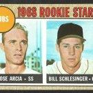 CHICAGO CUBS ROOKIE STARS JOSE ARCIA BILL SCHLESINGER 1968 TOPPS # 258 EX