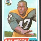 PITTSBURGH STEELERS MARV WOODSON 1968 TOPPS # 137 VG