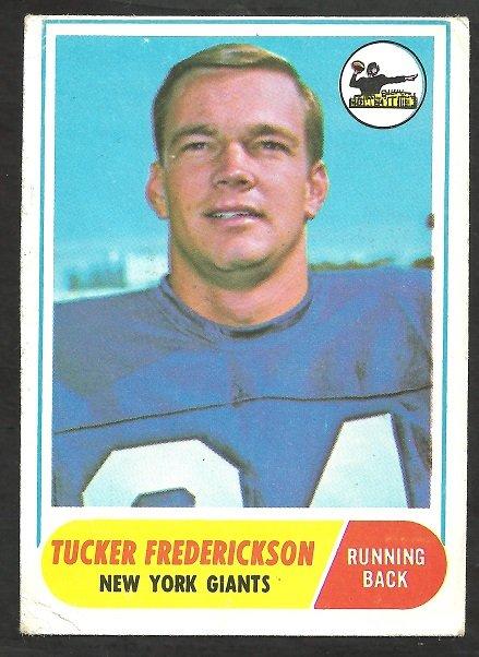 NEW YORK GIANTS TUCKER FREDERICKSON 1968 TOPPS # 135 G/VG