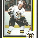 BOSTON BRUINS RANDY BURRIDGE ROOKIE CARD RC 1986 TOPPS # 70 EM/NM