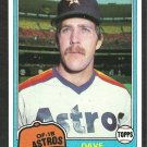 1981 Topps Baseball Card # 253 Houston Astros Dave Bergman em/nm