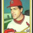 1981 Topps Baseball Card # 255 St Louis Cardinals Mark Littell nr mt