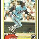 1981 Topps Baseball Card # 256 Minnesota Twins Bombo Rivera nr mt