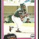 1981 Topps Baseball Card # 257 San Francisco Giants Rennie Stennett nr mt