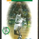 BOSTON CELTICS 1995 POCKET SCHEDULE DEE BROWN