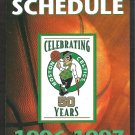 BOSTON CELTICS 1996 POCKET SCHEDULE CELEBRATING 50 YEARS