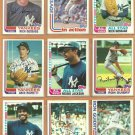 1982 Topps New York Yankees Team Lot 35 Reggie Jackson Winfield Righetti RC  Nettles Gossage Guidry