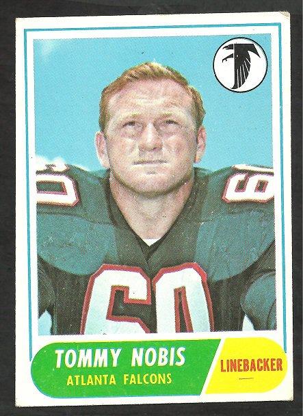 ATLANTA FALCONS TOMMY NOBIS 1968 TOPPS # 151 EX