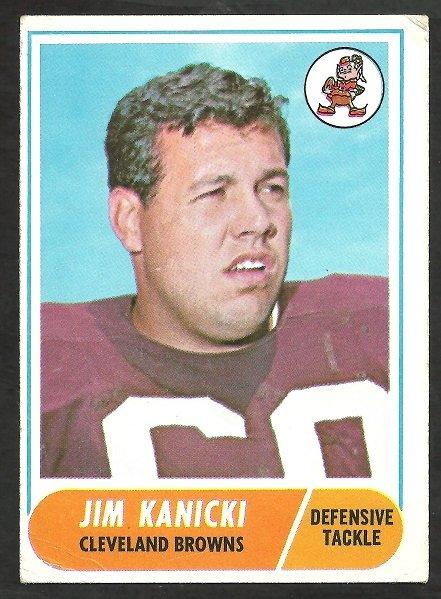 CLEVELAND BROWNS JIM KANICKI 1968 TOPPS # 180 VG