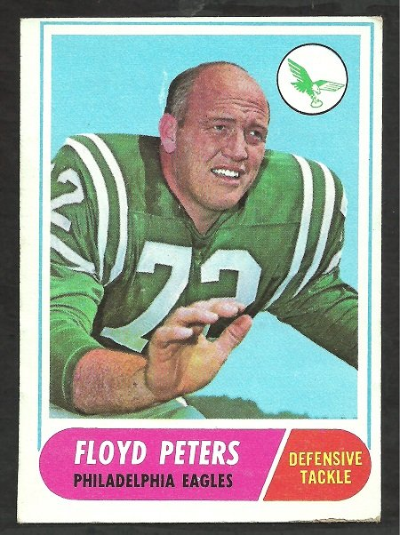 PHILADELPHIA EAGLES FLOYD PETERS 1968 TOPPS # 188 EX