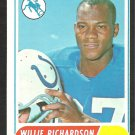 BALTIMORE COLTS WILLIE RICHARDSON 1968 TOPPS # 152 VG/EX OC