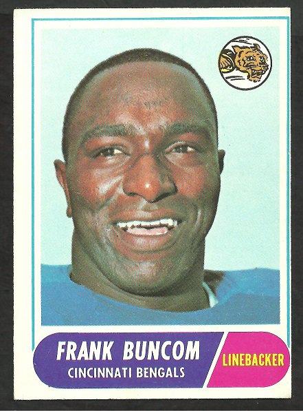CINCINNATI BENGALS FRANK BUNCOM 1968 TOPPS # 18 VG/EX
