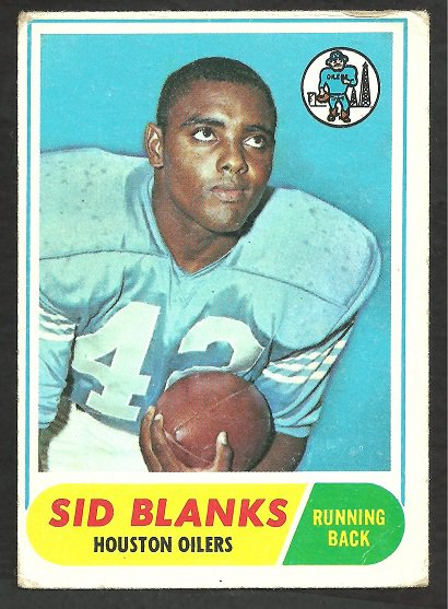 HOUSTON OILERS SID BLANKS 1968 TOPPS # 120 VG