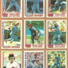 1982 Topps Philadelphia Phillies Team Lot 24 Pete Rose Steve Carlton Tug McGraw Bowa Maddox