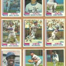 1982 Topps New York Mets Team Lot 27 Mookie Wilson Kingman Staub Mazzilli Mike Scott