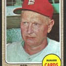 ST LOUIS CARDINALS RED SCHOENDIENST 1968 TOPPS # 294 EX/EM