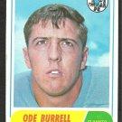 HOUSTON OILERS ODE BURRELL 1968 TOPPS # 146 VG/EX