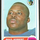 SAN DIEGO CHARGERS BRAD HUBBERT 1968 TOPPS # 141 VG+/EX