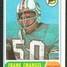 MIAMI DOLPHINS FRANK EMANUEL 1968 TOPPS # 170 VG/EX OC