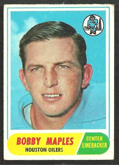 HOUSTON OILERS BOBBY MAPLES 1968 TOPPS # 16 VG