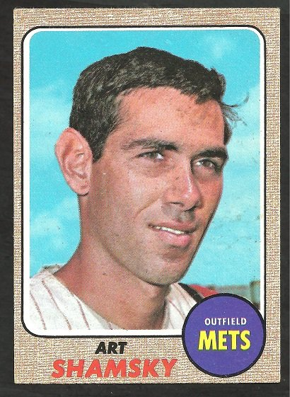 NEW YORK METS ART SHAMSKY 1968 TOPPS #292 VG/EX