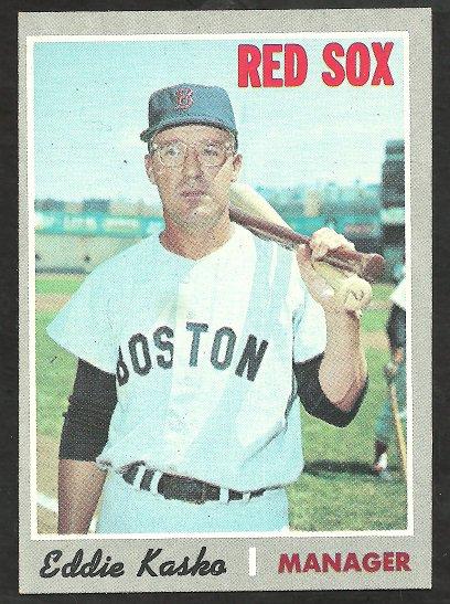 BOSTON RED SOX EDDIE KASKO 1970 TOPPS # 489 NR MT