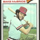 1977 Topps Baseball Card # 516 St Louis Cardinals Bake McBride ex mt