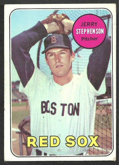 BOSTON RED SOX JERRY STEPHENSON 1969 TOPPS # 172 VG/EX