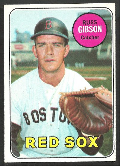BOSTON RED SOX RUSS GIBSON 1969 TOPPS # 89 NR MT OC
